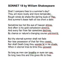 the mad literature professor not of the highest quality   sonnet 18 shakespeare published his sonnets in 1609