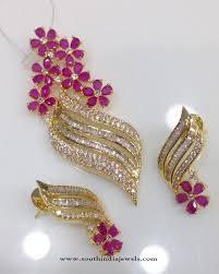 diamond necklaces american diamond pendant designs gold plated ad pendant designs indian ad pend jpg