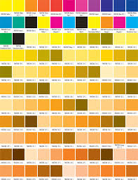Collection of most popular forms in a given sphere. Free Printable Pantone Color Charts Word Pdf