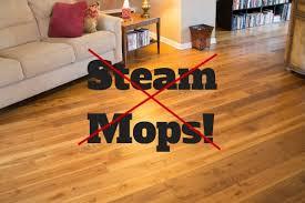 steam cleaner on hardwood floors
