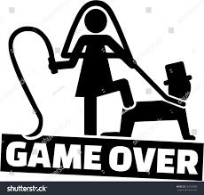 Wedding Couple Game Over Man Stock Vektorgrafik 554729059
