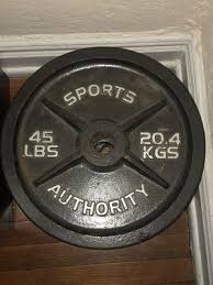 45 lbs pound sports authority weight lifting plates bench press in queens