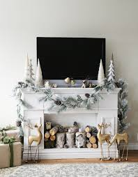 diy faux fireplace mantle with storage