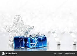 Gifts Background Christmas Blue Gifts Decoration Shiny Silver Background
