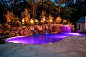 creative outdoor lighting ideas. Furniture Easy The Eye Lighting Pools And Pool Areas Outdoor Newest Lights For Swimming Pleasing Images About Landscaping Around Creative Ideas