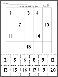 Small Picture free math cut and paste numbers 1 20 math games coloring page