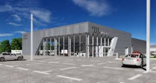 artist s impression of the new audi dealership in ballybrit in galway city