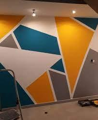 25 diy tape mural wall art paint ideas