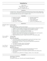 Manager Resume Examples Mesmerizing Restaurants Manager Resume Restaurant Manager Resumes Free Resume
