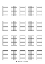 Blank Chord Chart Printable Blank Guitar Neck Diagrams Chord Scale Charts