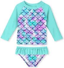 Amazon.com: uideazone Little Girls <b>2</b>-Piece Swimsuit Set Long ...