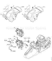 Stihl ms 251 chainsaw ms251 cbe 2 mix parts diagram shroud
