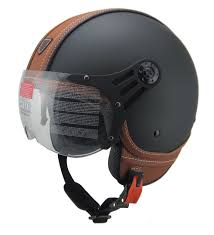 vintage leather motorcycle helmets