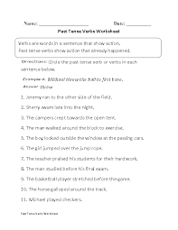 Verbs Worksheets Verb Tenses Worksheets