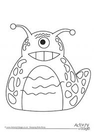 Small Picture Monster Colouring Pages
