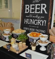 beer food station beer tasting parties husband 30th birthday 40th birthday themes beer