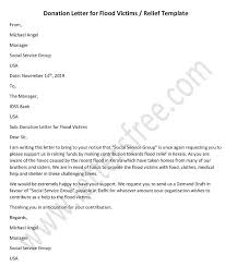 Donation Request Letter For Flood Victims Relief