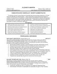 Hr Generalist Resume Sample Candidates Advisor Key Skills For