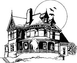 Small Picture Coloring Pages Haunted House For Adults Free Printables Kids To