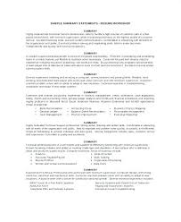 Resume Summary Statement Interesting How To Write A Resume Summary Statement Job For Resumes Career