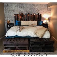 king size pallet bed king size pallet bed and headboard diy rustic industrial great