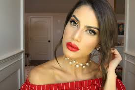 bold red lip makeup