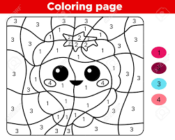 We have collected 35+ kawaii coloring page images of various designs for you to color. Number Coloring Page For Preschoolers Cute Kawaii Raspberry Royalty Free Cliparts Vectors And Stock Illustration Image 132855925