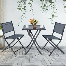 3 pcs bistro set garden backyard table