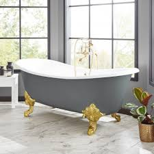 72 lena cast iron clawfoot tub dark gray
