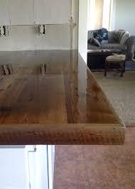 diy wooden kitchen countertops. diy reclaimed wood countertop - coating with spar urethane . diy wooden kitchen countertops p