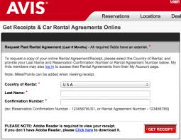 Download Rental Car Receipts | Hertz | National | Enterprise ...