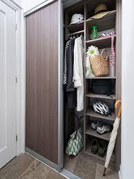 classic closet organizer for front door of condo