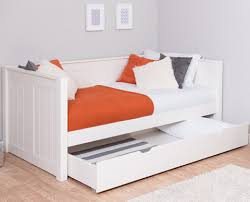 classic kids white daybed with trundle