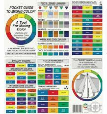 Color Guide In 2019 Paint Color Wheel Color Mixing Chart