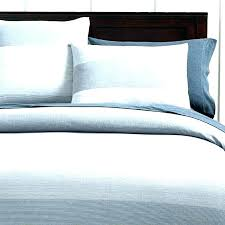 blue ticking stripe duvet cover white striped and king size queen