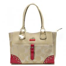 Coach Stud In Monogram Large Khaki Satchels BYE