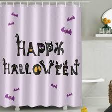 lb 180 180 funny happy bat light purple shower curtains polyester cute bathroom curtain
