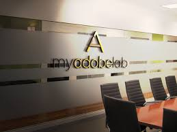 office wall pictures. 3D Wall Logo Mockup Template Free Office Pictures T