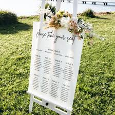 Printed A1 Size Wedding Welcome Sign Wedding Seating Chart