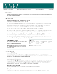 Cover Letter Interior Design Resume Samples Interior Design Resume