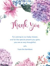 Thank you card images Greeting 4819 Paperlust Fiore Digital Printing Baby Shower Thank You Cards