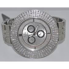 joe rodeo platinum 17 68ct diamond watch full diamond bazel case zoom