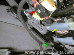 porsche cayenne front seat removal 2003 2008 pelican parts diy 2004 Porsche Cayenne Turbo New Wiring Harness pull the grommet (green arrow) holding the seat wiring harness to the seat ( Battery Location On a 2004 Porsche Cayenne Turbo