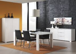 black and white dining table set: modern dining sets in black and white theme with black side dining chair made of