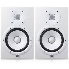 yamaha hs7 pair. yamaha hs7 white pair two powered studio monitors - price is for x2 hs-7 hs7