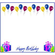 birthday balloons border landscape. Modren Balloons Funbirthdaybordersballoonspresents In Birthday Balloons Border Landscape L