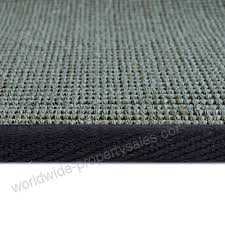 icustomrug silver grey natural fiber sisal area rug 2 feet 6 inches x 8 feet