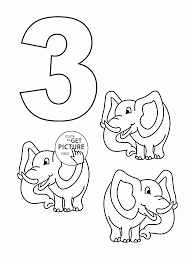 Small Picture Number 3 Coloring Page Number 3 Coloring Page Free Printable