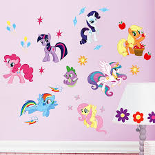 Baby My Little Pony Height Growth Chart Wall Stickers Decals