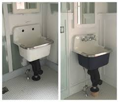 wall mounted cast iron sink